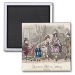 Children at Play 2 Inch Square Magnet