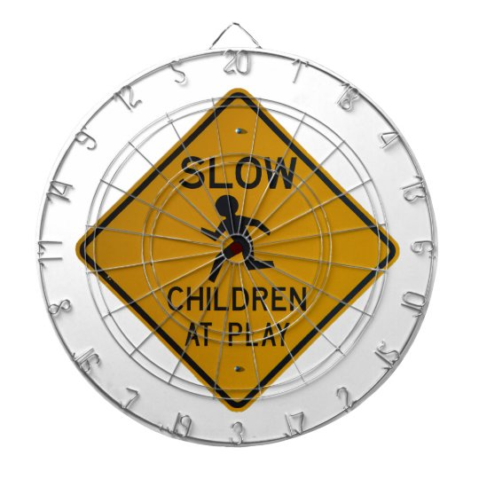 CHILDREN AT PLAY DART BOARD