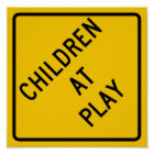 Children at Play Highway Sign