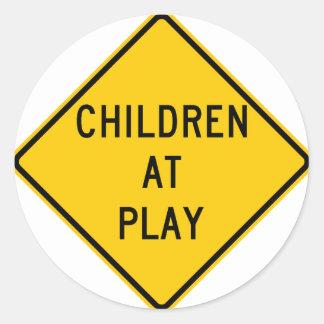 Children at Play Highway Sign Sticker