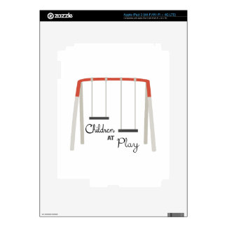 Children At Play Decals For iPad 3