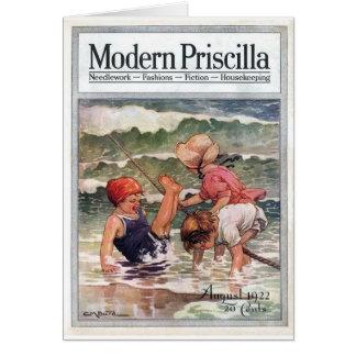 Children At the Beach, Card