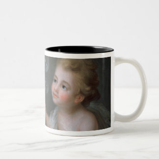 Children blowing bubbles Two-Tone coffee mug
