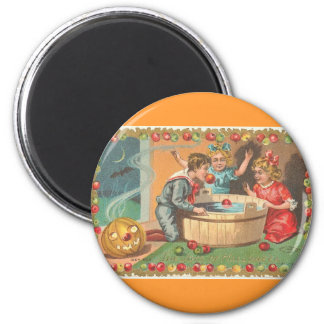 children bobbing apples, apple border magnet