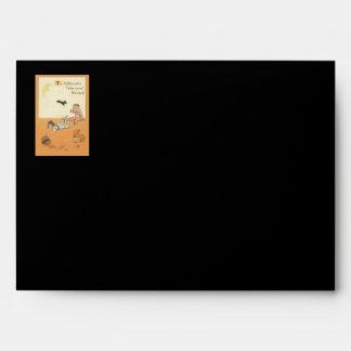 Children Broken Jack O' Lantern Bat Apple Envelope