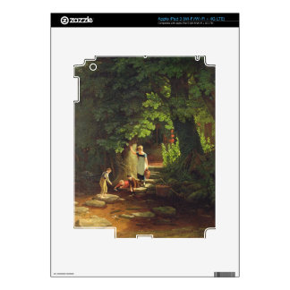Children by a Brook, c.1822 (oil on panel) iPad 3 Decals