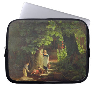 Children by a Brook, c.1822 (oil on panel) Laptop Sleeve