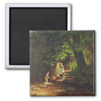 Children by a Brook, c.1822 (oil on panel) Magnet