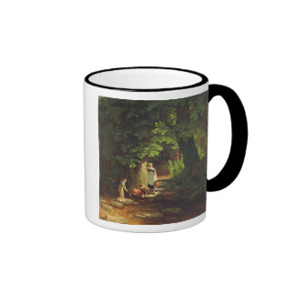 Children by a Brook, c.1822 (oil on panel) Mug