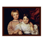 Children By Ferdinand Georg Waldmüller Post Card