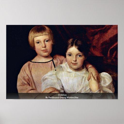 Children By Ferdinand Georg Waldmüller Poster