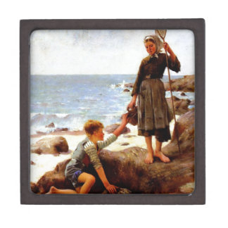 Children by the sea painting premium gift boxes