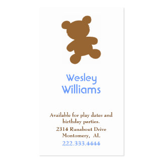 Children Calling Card Double-Sided Standard Business Cards (Pack Of 100)