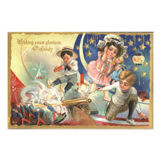 Children Cannon Fireworks Toy Soldiers Photo Print