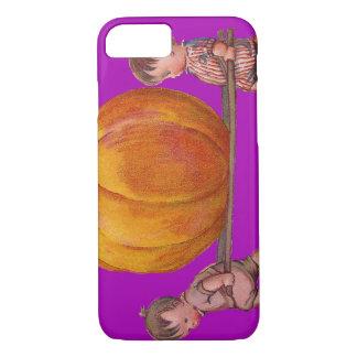 Children Carrying Giant Pumpkin Purple iPhone 8/7 Case