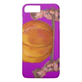 Children Carrying Giant Pumpkin Purple iPhone 8 Plus/7 Plus Case