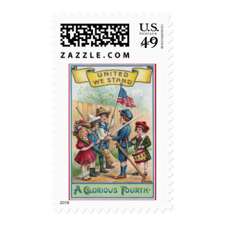 Children Celebrate the Fourth Postage Stamp