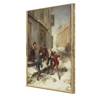 Children Chasing a Rat Canvas Print