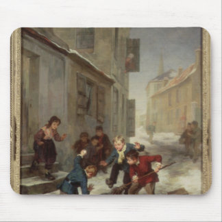 Children Chasing a Rat Mouse Pad