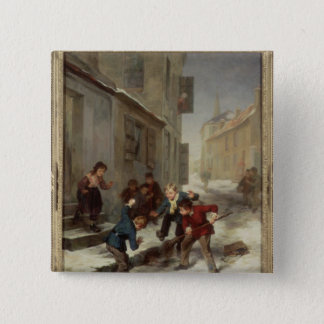 Children Chasing a Rat Pinback Button