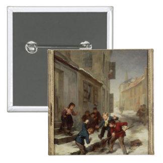 Children Chasing a Rat Pinback Button