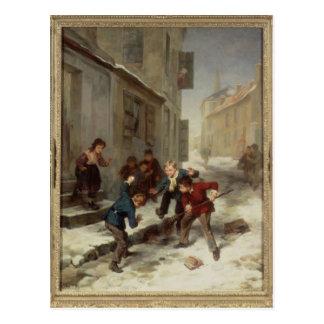 Children Chasing a Rat Postcard