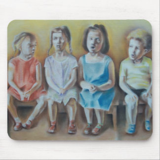 Children Chatting Mouse Pad