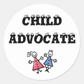 children, CHILD, ADVOCATE Classic Round Sticker