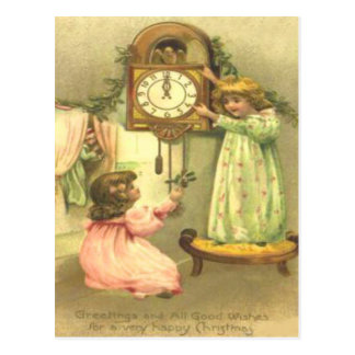 Children Christmas Morning Postcard