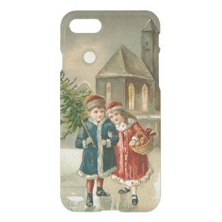 Children Christmas Tree Church Frozen Pond Snow iPhone 8/7 Case