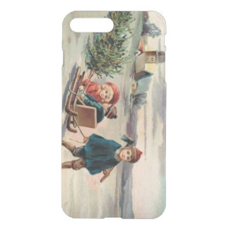 Children Christmas Tree Sled Sleigh iPhone 8 Plus/7 Plus Case