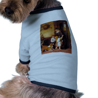 Children Collie Dog Home Welcome painting Pet Tee