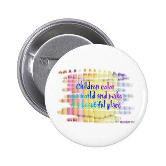 children color our world 2 inch round button