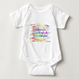 children color our world baby bodysuit