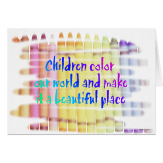children color our world card