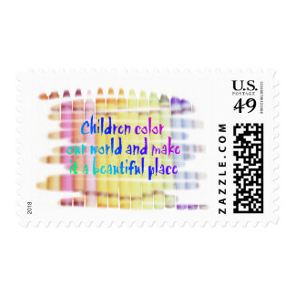 children color our world postage