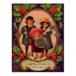 Children Coming To Visit For Christmas Postcard