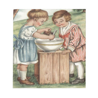 Children Cooking Baking Outdoors Notepad
