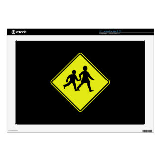 Children Crossing, Traffic Sign, New Zealand Decal For Laptop