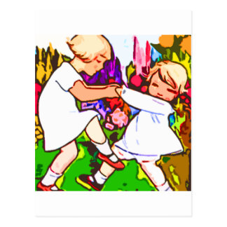 children dance postcard