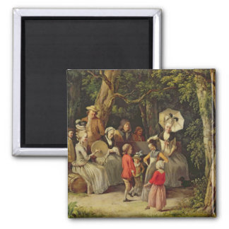 Children Dancing 2 Inch Square Magnet