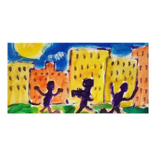 Children Dancing by Piliero Picture Card