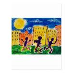 Children Dancing by Piliero Postcard