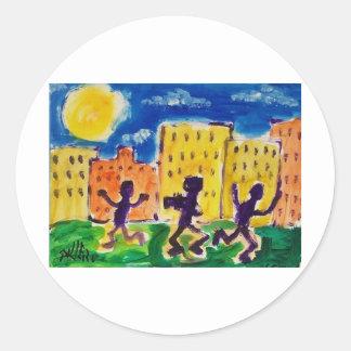 Children Dancing by Piliero Round Sticker