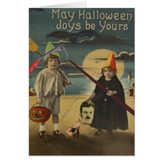 Children Decapitated Head Trick Or Treat Greeting Card