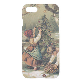 Children Decorating Christmas Tree Snow iPhone 8/7 Case