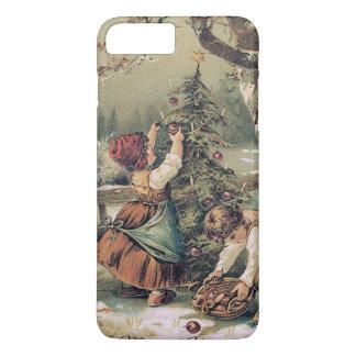 Children Decorating Christmas Tree Snow iPhone 8 Plus/7 Plus Case