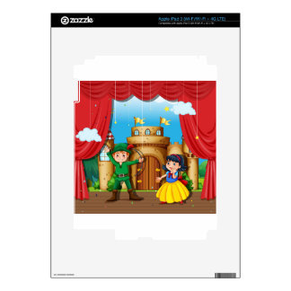 Children doing stage drama decal for iPad 3