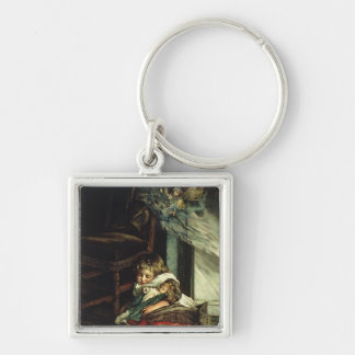 Children dreaming of toys key chain