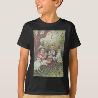 Children Easter Bunny Basket Colored Egg T-Shirt